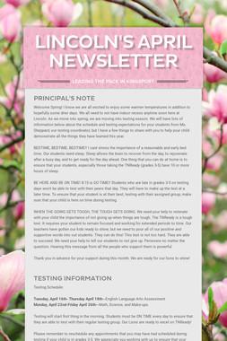 Lincoln's April Newsletter