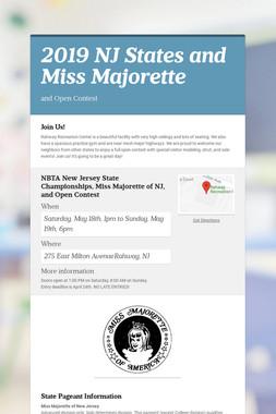 2019 NJ States and Miss Majorette