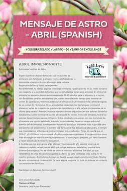 Mensaje de Astro - Abril (Spanish)