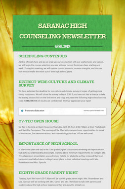 Saranac High  Counseling Newsletter