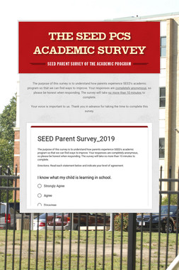 The SEED PCS Academic Survey