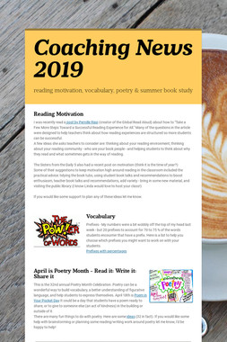 Coaching News 2019