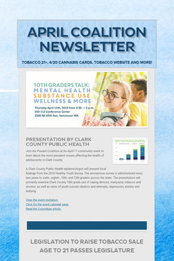 April Coalition Newsletter