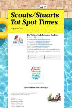 Scouts/Stuarts Tot Spot Times