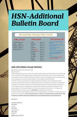 HSN-Additional Bulletin Board