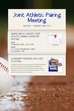 Joint Athletic Pairing Meeting