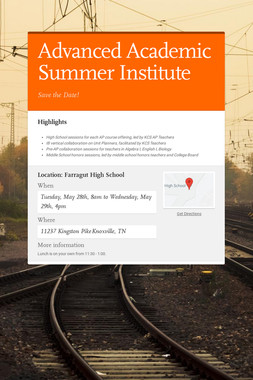 Advanced Academic Summer Institute