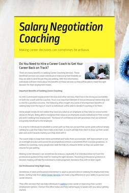 Salary Negotiation Coaching