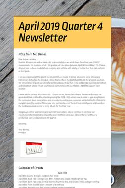 April 2019 Quarter 4 Newsletter
