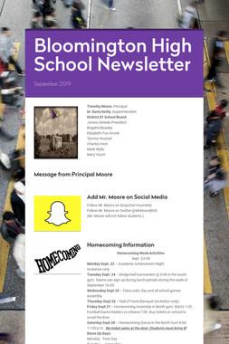 Bloomington High School Newsletter