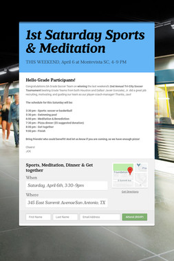 1st Saturday Sports & Meditation