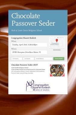 Chocolate Passover Seder