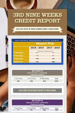 3rd Nine Weeks Credit Report