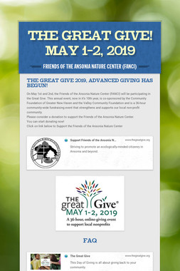 The Great Give! May 1-2, 2019