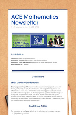 ACE Mathematics Newsletter