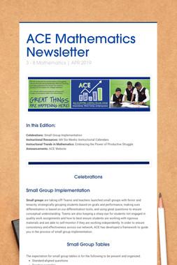 ACE Mathematics Newsletter