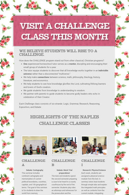 Visit a Challenge class this month
