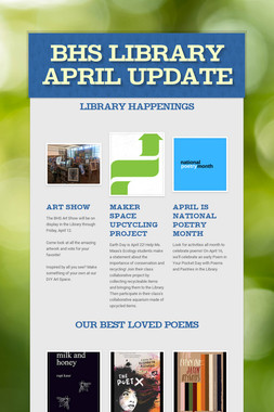 BHS Library April Update