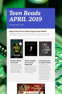 Teen Reads APRIL 2019