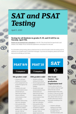 SAT and PSAT Testing