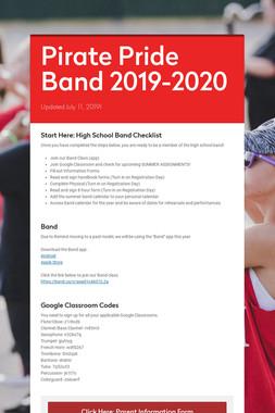 Pirate Pride Band 2019-2020