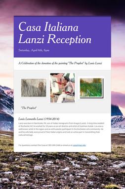 Casa Italiana Lanzi Reception