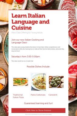 Learn Italian Language and Cuisine