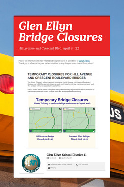Glen Ellyn Bridge Closures