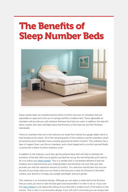 The Benefits of Sleep Number Beds