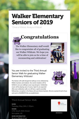 Walker Elementary Seniors of 2019