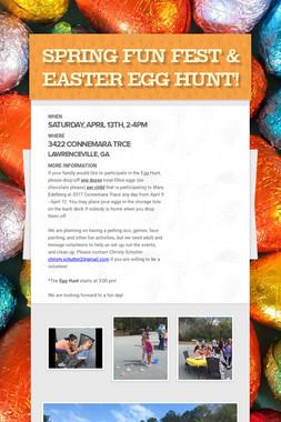 Spring Fun Fest & Easter Egg Hunt!