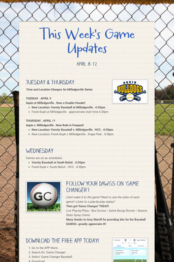 This Week's Game Updates
