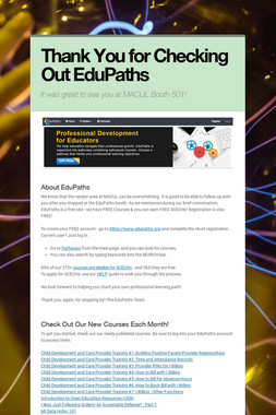 Thank You for Checking Out EduPaths
