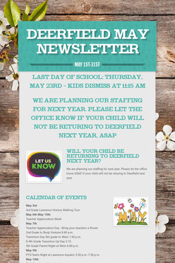 Deerfield May Newsletter