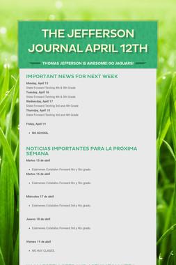 The Jefferson Journal April 12th