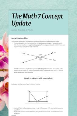 The Math 7 Unit 7 Update