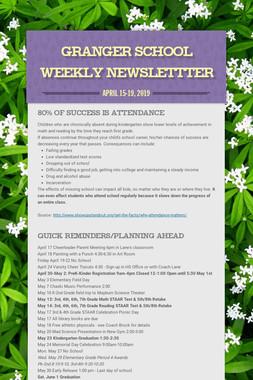 Granger School Weekly Newslettter