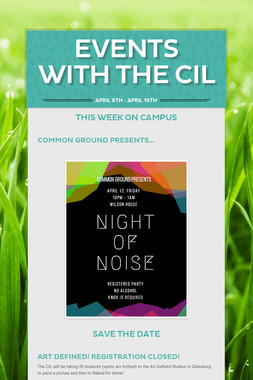 EVENTS WITH THE CIL