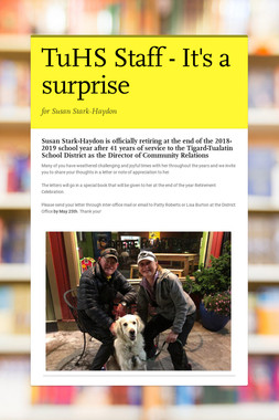 TuHS Staff - It's a surprise