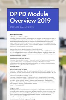 DP PD Module Overview 2019