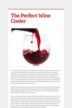 The Perfect Wine Cooler