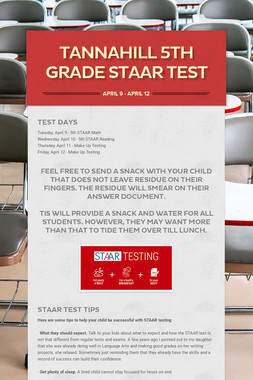 Tannahill 5th Grade STAAR Test