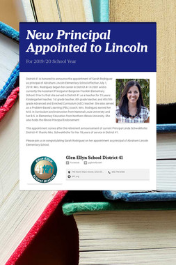 New Principal Appointed to Lincoln
