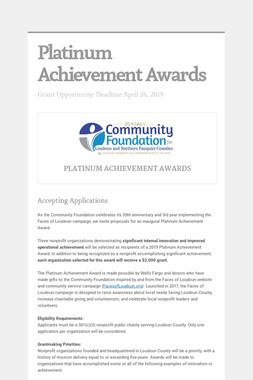 Platinum Achievement Awards