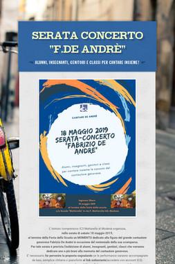 """Serata Concerto """"F.De Andrè"""""""