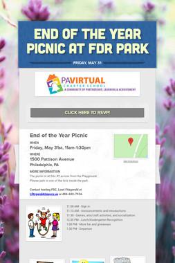 End of the Year Picnic at FDR Park