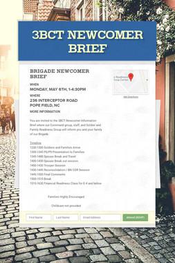 3BCT Newcomer Brief