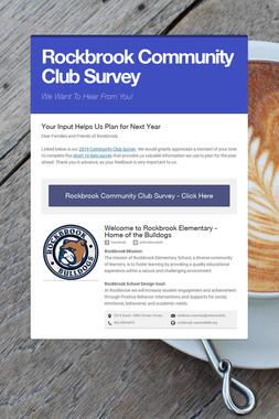 Rockbrook Community Club Survey