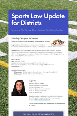 Sports Law Update for Districts