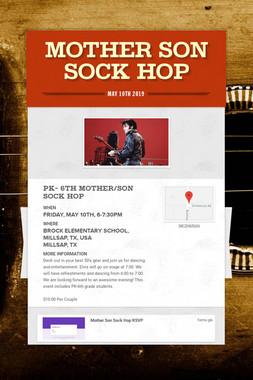 Mother Son Sock Hop